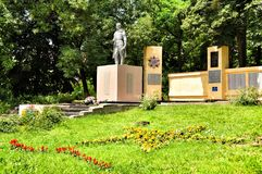 Monument to fallen soldiers during the Second World War the USSR with fascists Stock Images