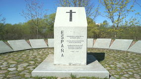 Monument to the fallen Spanish soldiers in Russia stock video