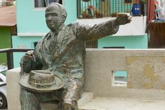 Monument to the famous Chilean poet Pablo Neruda, Valparaiso, Chile. Royalty Free Stock Photography