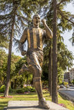 Monument to the famous football player Alex de Souza Fenerbahce Istanbul Royalty Free Stock Photos