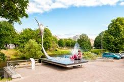 Monument to the famous Latvian ballet dancer Maris Rudolfs Liepa. Stock Photography