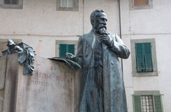 Monument to famous mathematician Ulisse Dini, Pisa, Italy Royalty Free Stock Photos