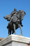 The monument to the famous Russian hero Dmitry Donskoy in Kolomn Stock Photography