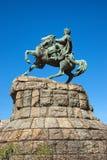 Monument to famous Ukrainian Hetman Bogdan Khmelnitsky on Sofia square in Kiev, Ukraine Stock Photos