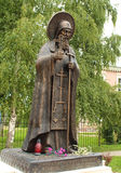 Monument to Father-Superior. Monument to Cornelius - Father-Superior of the Pskovo-Pechersky (Pskov-Caves) monastery located on the historically Russian land, 50 Royalty Free Stock Photography