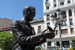 Monument to Federico García Lorca in Madrid Stock Image