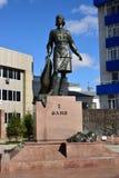 Monument to the female war hero ALIA MOLDAGULOVA in Astana Royalty Free Stock Image