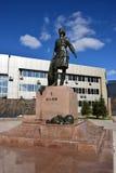 Monument to the female war hero ALIA MOLDAGULOVA in Astana Stock Photography
