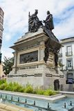 Monument to Ferdinand and Isabella in the Plaza Isabel la Catol Stock Images
