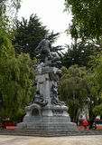 A monument to Fernando Magellan in Punta arenas. Stock Photography
