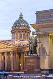 Monument to Field Marshal Barclay de Tolly in front of Kazan Cathedral, St. Petersburg Stock Photos