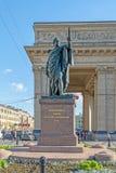 Monument to field Marshal Prince Kutuzov. Russia, St. Petersburg royalty free stock photo