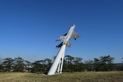Monument to the fighter aircraft. Stock Image