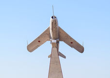Monument to the fighter aircraft. Royalty Free Stock Images