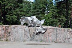 Monument to Finnish composer Jan Sibelius Stock Image