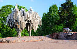Monument to Finnish composer Jean Sibelius. Monument to the famous Finnish composer Jean Sibelius in Helsinki, Finland Stock Photo