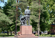 Monument to the Finnish officers who were lost in 1939-1945. Cit. Y of Hamin, Finland. Park Stock Image