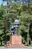 Monument to the Finnish officers who were lost in 1939-1945. Cit. Y of Hamin, Finland. Summer Royalty Free Stock Photo