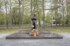 Monument to firefighters and rescuers. Victory park on Sokolova a grief. Royalty Free Stock Photo