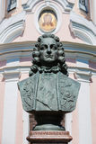 The monument to the first Cavalier of the order of St. Andrew Golovin in St. Petersburg Royalty Free Stock Images