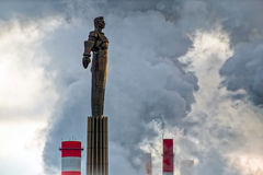 The monument to the first cosmonaut Yuri Gagarin Stock Photography