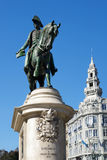 Monument to the first king of Portugal Don Pedro IV on the Liber Stock Image