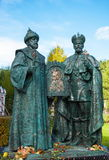 Monument to the first and last king of the Romanov dynasty - Mikhail Fedorovich and Nicholas II. Royalty Free Stock Photography