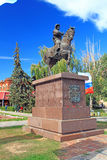 The monument to the first monarch of Volgograd Stock Image