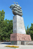 Monument to First Shipbuilders in Kherson, Ukraine. Monument to the First Shipbuilders of the Black Sea Fleet in Kherson, Ukraine Stock Images
