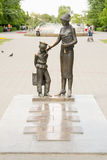 The monument to the first teacher with classics, Volgograd Royalty Free Stock Image