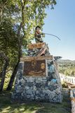Monument to the fisherman of Patagonia stock photos