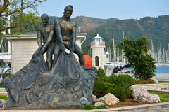 Monument to fishermen in Marmaris, Turkey Royalty Free Stock Images
