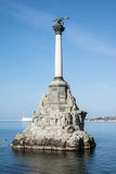Monument to the flooded ships Royalty Free Stock Photos