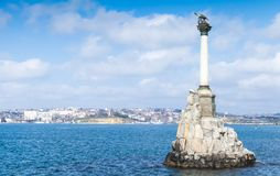 Monument to Flooded Ships. Sevastopol royalty free stock photo