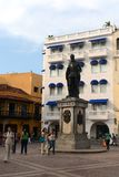The monument to the founder of Cartagena conquistador Don Pedro de Heredia .Cartagena Royalty Free Stock Image