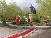 A monument to the founder of the city of Chita. Centurion Pyotr Stock Photography