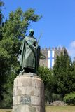 The monument to the founder of Portugal. King Afonso I in Guimaraes stock images