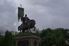 Monument to the founder of Samara, the city where the World Cup will be held stock photography