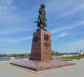 Monument to the founders of the city of Irkutsk Stock Photography