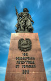 Monument to the founders of the city of Irkutsk Stock Images