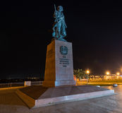Monument to the Founders of the city of Irkutsk Stock Photos