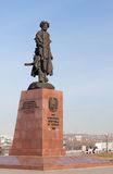 Monument to the founders of Irkutsk. Russia. Royalty Free Stock Image