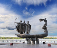 Monument to founders of Kiev Royalty Free Stock Image