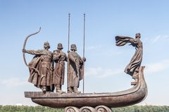 Monument to founders of Kiev Royalty Free Stock Images