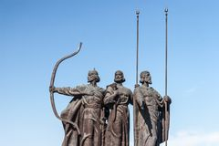 Monument to founders of Kiev Royalty Free Stock Photo