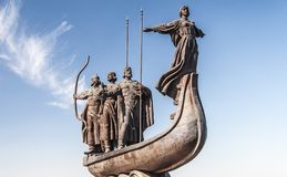 Monument to founders of Kiev Royalty Free Stock Photography