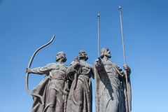 Monument to founders of Kiev Royalty Free Stock Photos