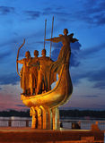 Monument to the Founders of Kiev Royalty Free Stock Photo