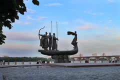 Monument to the founders of Kiev Stock Photography