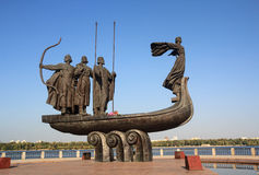 Monument to founders of Kiev. Ukraine Royalty Free Stock Images